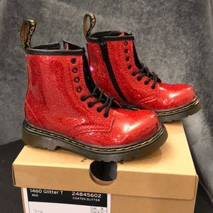 NEW! Dr. Martens 1460 Glitter T - Red